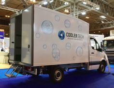 Mercedes Sprinter 3.5 Tonne with AiroTech body at The CV Show 2017. One of four great insulated vehicles on our stand. #Coolertechltd #CVShow #refrigeratedvehicle #refrigeratedvan #fridgebody #fridgevan #insulatedvehicle #insulatedvan #chiller #temperaturecontrolledvehicle #temperaturecontrolledvan #commercialvehicle #vehicle #van #lorry #truck
