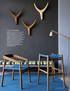 Des trophées Nguni du studio de design Vogel basé à Cape Town Luxury Furniture, Modern Furniture, Home Furniture, Furniture Design, Eco Design, Handmade Design, African Furniture, African Interior, Turbulence Deco