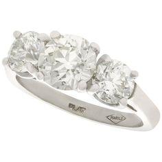 Engagement Ring Types, Trilogy Engagement Ring, Platinum Engagement Rings, Three Stone Engagement Rings, Vintage Engagement Rings, Vintage Diamond Rings, Vintage Rings, Vintage Jewelry, Contemporary Engagement Rings