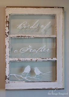 Stenciling Old Windows. It's about more than golfing,  boating,  and beaches;  it's about a lifestyle  KW  http://pamelakemper.com/area-fun-blog.html?m