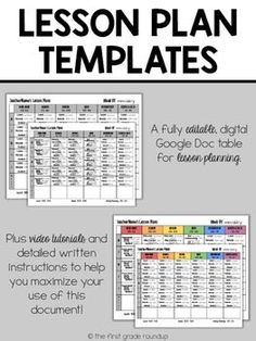 Want lesson plans that you can go completely digital with?  Like not even have to print out (unless you want to!)?  Ever wish that you could divide and conquer lesson planning to get it done even faster and more effectively?These 4 lesson plan templates are on Google Drive which means you can access them from home or school and you can share (after purchasing additional licenses at 50% off) with teammates and all type on the lesson plans at the same time....so get the work done 5 times…
