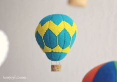 Hot air balloon mobile - with free pattern
