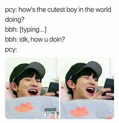 ugh I wish Exo Chanbaek, Exo Ot12, Exo Chanyeol, Kyungsoo, Memes Funny Faces, Funny Kpop Memes, Exo Memes, Exo Ships, Exo Facts