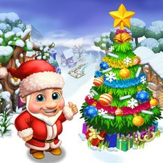 Max, oh sorry - Santa - is really proud of his Christmas Tree!  #royalstorygame