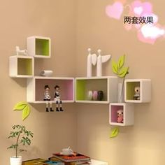 The newest catalog of corner wall shelves designs for modern home interior wall decoration latest trends in wooden wall shelf design as home interior decor trends in Indian houses Corner Wall Shelves, Wooden Wall Shelves, Wall Shelves Design, Wooden Walls, Book Shelves, Kids Room Design, Home Design Decor, Design Ideas, Articles En Bois