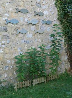 déco mur jardin