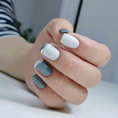 35 Trendy Short Nail Designs You'll LoveIf you like having short nails to longer ones, you're at the proper place. We've put together a very large gallery of nail designs for short nails. for the next time you wish some DIY or skilled salon manicure Diy Nail Designs, Short Nail Designs, Simple Nail Designs, Acrylic Nail Designs, Easy Designs, Easy Nails, Simple Nails, Cute Nails, Nailed It