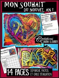 Voici un projet d'arts plastiques mdiatique. 2e cycle et plus. Dans cette cration, les lves doivent choisir un mot pour crer un graffiti. Ce graffiti exprimera un souhait pour la nouvelle anne qui dbute. Dans le monde, cette anne, je voudrais plus de.... ?