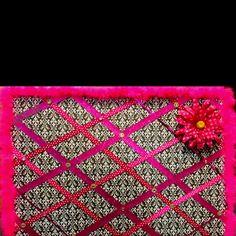 Pretty pink ribbon bulletin board!