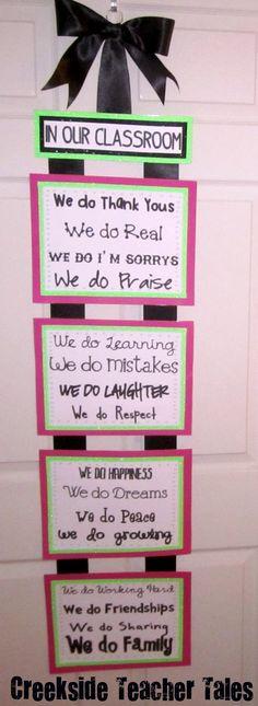 Creekside Teacher Tales: Classroom Pledge & Freebie. I may need to make this!