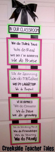 """In our classroom """"we do"""" ..."""