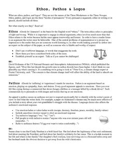 Printables Ethos Logos Pathos Worksheet the three pillars of persuasion ethos logos pathos to be logos