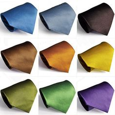 NEW SOLID COLOR MENS NECKTIE PLAIN NECK TIES FREE SHIPPING 20 Color in Clothing, Shoes & Accessories | eBay