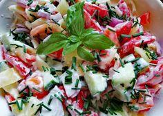 Caprese Salad, Pasta Salad, Kefir, Ethnic Recipes, Food, Red Peppers, Crab Pasta Salad, Essen, Meals