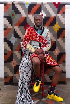 Maxhosa By Laduma: A Unique Expression Of African Style – Suzy Menkes Vogue South African Design, Xhosa, Future Trends, African Fashion, African Style, African Colors, African Patterns, Afro Punk, Pattern Mixing