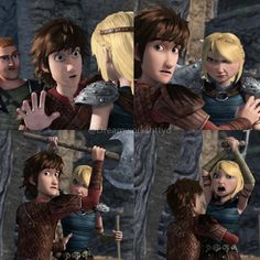 Oh I loved this scene so much!!!! < Me too. I thought it was adorable the way Hiccup was trying (and failing) to calm Astrid down. Lol.