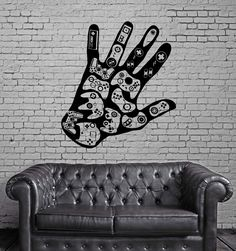 Gamer Wall Decal Video Game Play Room Boys Vinyl Stickers Art Mural (ig2531)