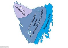 Most of Tasmania has the same climate as Britain, with the central part of the state enjoy...