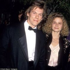 Feeling nostalgic: Last month Kevin shared another throwback photo as he celebrated his wife's 51st birthday, writing: 'Big Love Happy Birthday to my hero @kyrasedgwick'