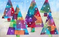 stained glass christmas trees