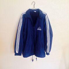 90s Navy Adidas Winbreaker Jacket