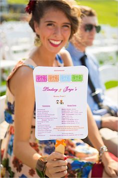 A fiesta wedding program on @wedding chicks - multi purpose as a fan!