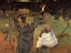 """""""Mango Kommissionierer (Martinique)"""", öl auf leinwand von Paul Gauguin (1848-1903, France)"""