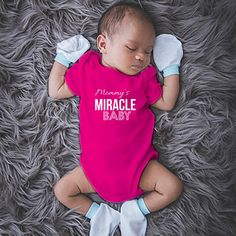 Keepsake baby onesies. The perfect gift for mommy's new baby. Buy this onesie today! Available in 6 colors.