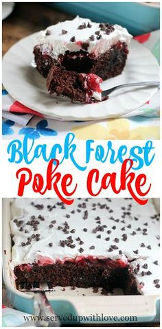 Black Forest Poke Cake | Served Up With Love