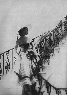hoodoothatvoodoo:  Lillian Bassman For Harper's Bazaar 1952