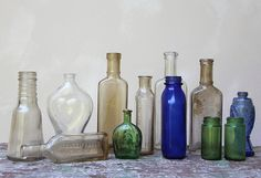 Old bottles from letterhappy on Etsy.