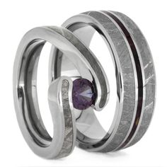 Thin Meteorite Wedding Band Size 11RS8000 Science wedding