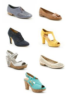 I want the turquoise sandals from  the Clarks SS12 collection
