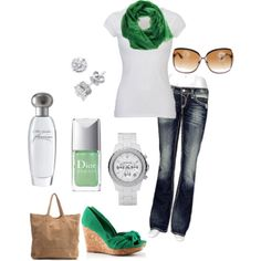 This is cute! I am into greens more and more lately...and of course pink=]