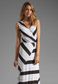 ELLA MOSS Zadie Stripe Dress in Black