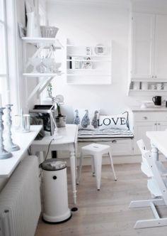 monochromatic kitchen.