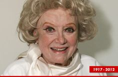 Phyllis Diller dies. She was so very funny. Prayers to her family and friends