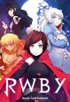 Team RWBY poster contest by ~Rouzille on deviantART Rwby Anime, Rwby Fanart, Rwby Poster, Roosterteeth Rwby, Rwby Blake, Red Like Roses, Blake Belladonna, Team Rwby, Red Vs Blue