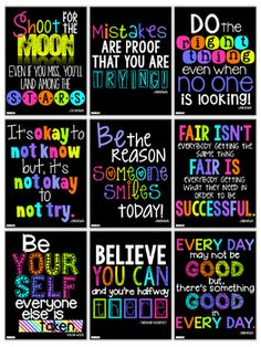 Motivational Quotes Posters for the Classroom. Custom poster prints or vinyl wrapped canvas. Order yours at Boardman Printing. Visit www.facebook.com/boardmanprinting