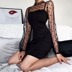 Black Lace Mini Dress, Mini Skirt Dress, Black Bodycon Dress, Prom Dresses Long With Sleeves, Party Dresses For Women, Women's Dresses, Dresses Online, Dress Outfits, Bodycon Dress Parties