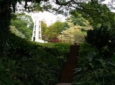 This picture illustrate the beauty of tree tunneling... Could you spot the lighthouse? It is located nearby the Flagstaff and the Time Ball at Fort Canning park. This is a replica of the lighthouse which has contributed to the  Singapore harbour which was previously built at the south side of Fort Canning Hill.