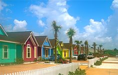 Candy Land - A residential street on North Padre Island TX. Photo by Sheri Ritchie