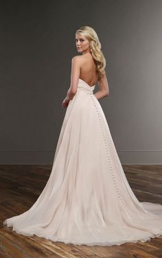 761 A-Line Wedding Gown by Martina Liana