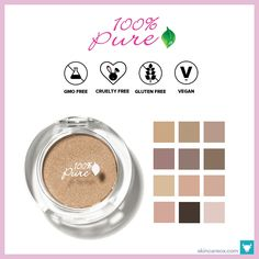 100% Pure – Fruit Pigmented Eye Shadow ($20)