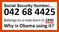 O'Bozo's other SS#...  Where is your Social Security card Mr. President?  Did you misplace yours?
