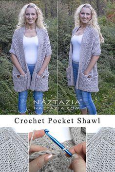 Gilet Crochet, Crochet Cardigan, Crochet Scarves, Knit Crochet, Crochet Stitch, Scarves & Shawls, Diy Crochet Clothes, Crochet Shawl Free, Knit Shawls
