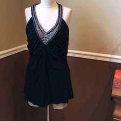 V neck sequin tank Only worn a hand full of times White House Black Market Tops Tank Tops