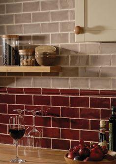 Kitchen Backsplash Red Tile