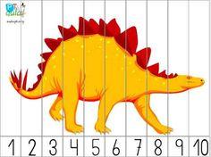 puzzles de dinosaurios Dinosaurs Preschool, Dinosaur Activities, Preschool Science, Montessori Activities, Preschool Activities, Montessori Trays, Spanish Classroom Activities, Kindergarten Worksheets, Kindergarten Classroom