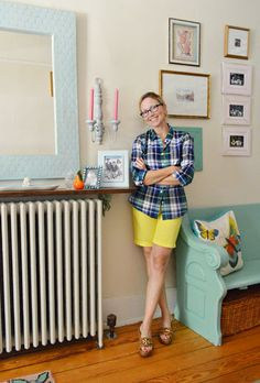 shelf above the radiator    House Crashing: A Happy Casual Farm House | Young House Love